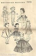 Vintage Butterick Doll Pattern