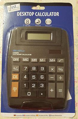 8 Digit Large Home Office Desktop Electronic Calculator Battery Solar Power