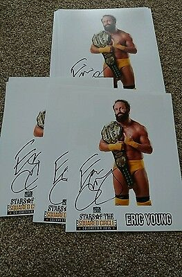 NXT WWE WCW TNA Eric young signed stars in the squared circle promo