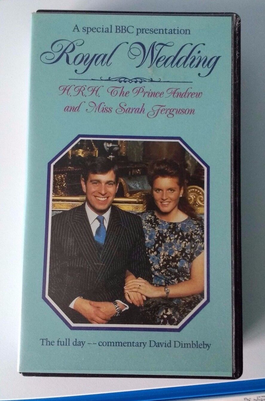 Commemorative BBC Video Prince Andrew and Sarah Ferguson Royal Wedding  July 1986