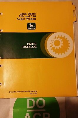 John Deere 210 310 Auger Wagon Parts Catalog Pc-1300 R3s27