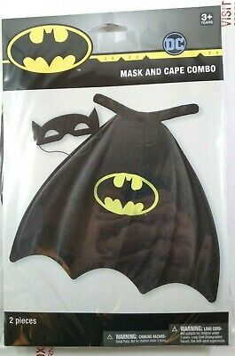 Batman Kids Mask and Cape Combo Pack Costume Dress-Up Hero Birthday Party DC NEW