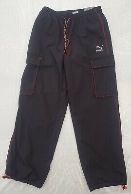 RARE puma tfs industrial cargo pants tracksuit bottoms joggers - size M RRP £85