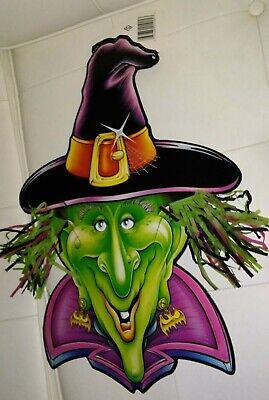 VINTAGE 1995 BEISTLE GREEN FACE WITCH! Halloween 18