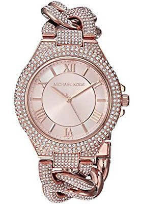 Michael Kors Camille Pavé Analog Bracelet Stainless-Steel Watch MK3821 Rose Gold Analog Stainless Steel Bracelet