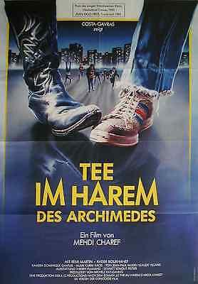Mehdi Charef Remi Martin TEE IM HAREM DES ARCHIMEDES Filmplakat A1 gefaltet