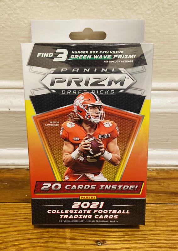 2021 PANINI PRIZM DRAFT PICKS NFL FOOTBALL HANGER BOX LAWRENCE WILSON RC GREEN