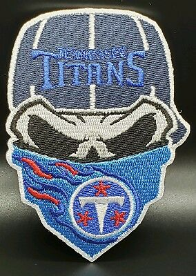 Tennessee Titans~Iron On Skull with Bandana Patch~Free Shipping from the - Titans Tennessee