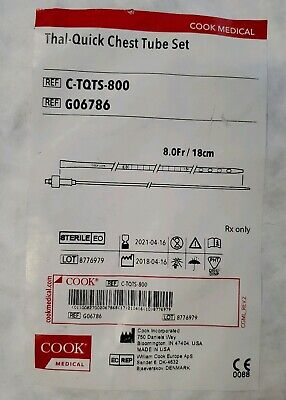Cook Medical Thal-quick Chest Tube Set Exp 2012-04-16