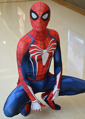 PS4 Spiderman Costume Insomniac Games Version Spider-Man Cosplay - Costumes Games