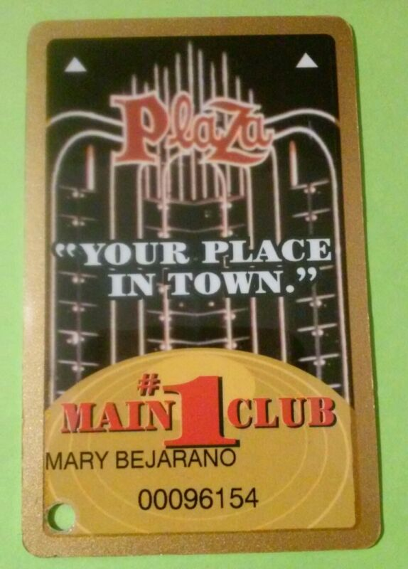 PLAZA HOTEL CASINO LAS VEGAS, NEVADA # 1 SLOT CARD GREAT FOR ANY COLLECTION!