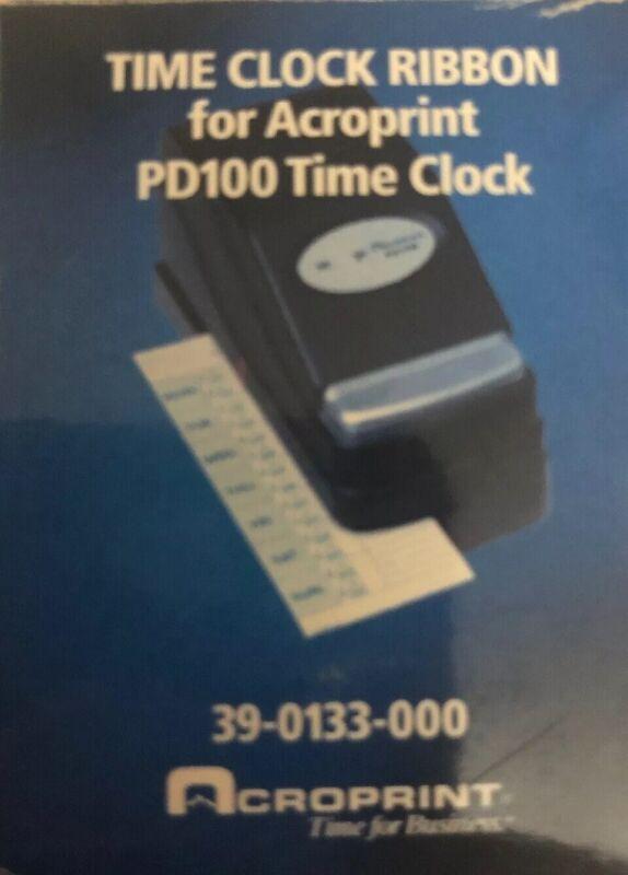 Acroprint PD122 Replacement Ribbon PD100 Time Clocks 39-0133-000 033297400253