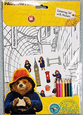 PADDINGTON BEAR Colouring set & Stickers coloring set