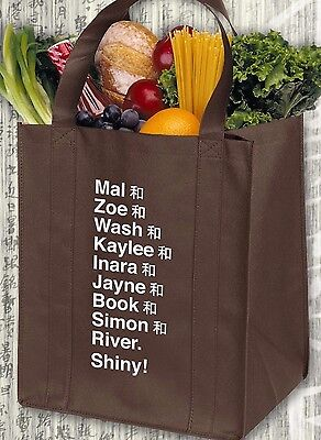 Browncoat Firefly Serenity Crew Name List Big Damn Brown Reusable Grocery Bag ](Firefly Names)