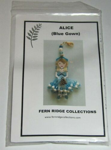 Fern Ridge ALICE with BLUE GOWN Beaded Fob Kit