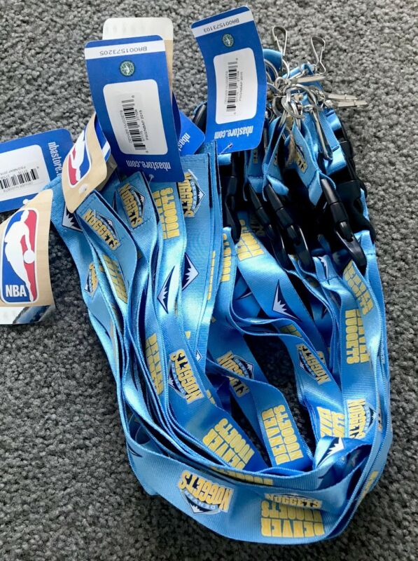 NBA Official Lanyard / Denver Nuggets / 10 Pieces / NEW /Lanyard / Keychains