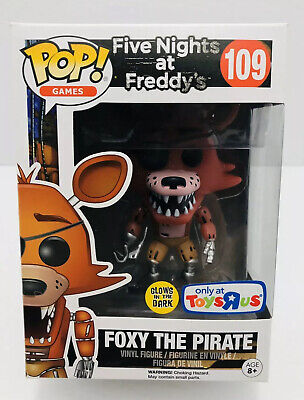 Funko Pop! #109 Foxy The Pirate - Glow In The Dark, Toys R US Exclusive