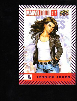 2018  2017 Upper Deck  Marvel Annual  75 Jessica Jones Base Paralle Purple Card