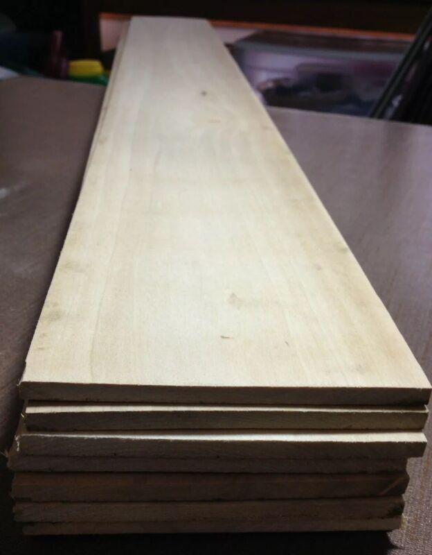 """1 Piece Poplar hardwood Lumber 5/16""""x5-3/16""""x42"""" Kiln Dried"""