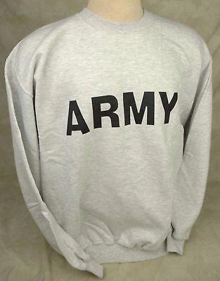 Army Crewneck Sweatshirt - GENUINE US ARMY ISSUE SWEATSHIRT PT PHYSICAL TRAINING CREW NECK USA MADE