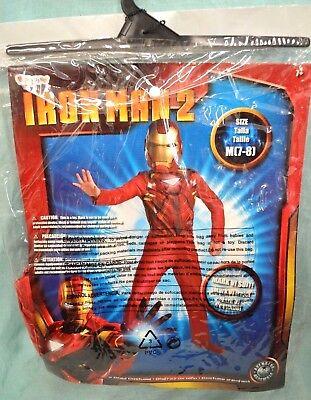 Girl Iron Man Costume (Halloween IRON MAN 2 Costume MARK VI SZ 7-8 CHILD New Boy GIRL RED Gold)