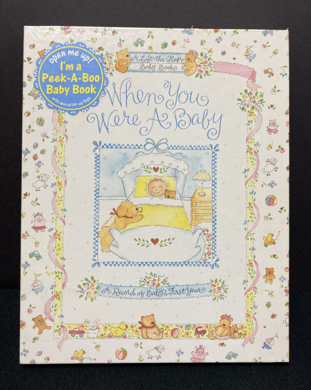 Baby Book CR Gibson When You Were A Baby Peek A Boo Lift The Flap Record Book