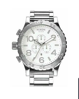 Nixon Watch 51-30 CHRONO Highpolish Silver White A083-488 - Japan Released (Nixon 51 30 Chrono High Polish White)