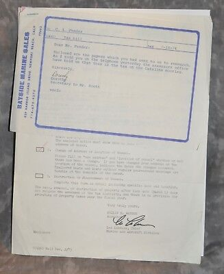 Leo Fender 1974 4-Page Letter Regarding Taxes For Yacht Hand Notes By Leo Fender