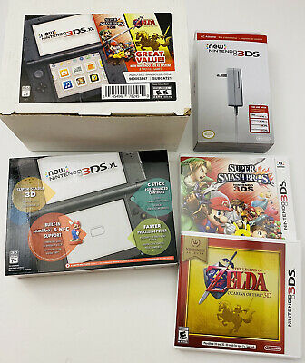 Nintendo 3DS XL Bundle w/ Super Smash Bros, Zelda & AC Adapter, SAME DAY Ship! segunda mano  Embacar hacia Mexico