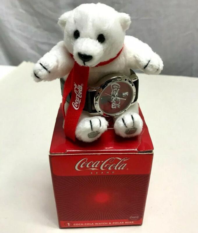 NIB Coca Cola Wrist Watch Polar Bear 2002 Collectable Gift Box Coke