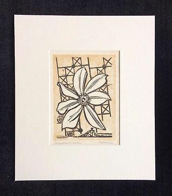 Erich Heckel signed woodcut print