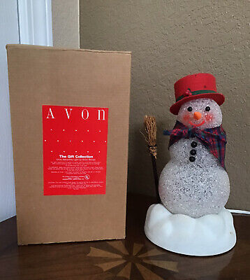 Vintage Collectible Avon Chilly Samantha Light Up Snowman Christmas holiday