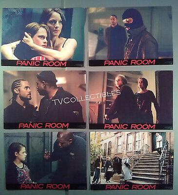 Lobby Card Set~ PANIC ROOM ~2002 ~Jodie Foster ~Kristen Stewart ~Jared Leto
