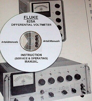 Fluke 825a Differential Voltmeter Operating Service Manualschematics