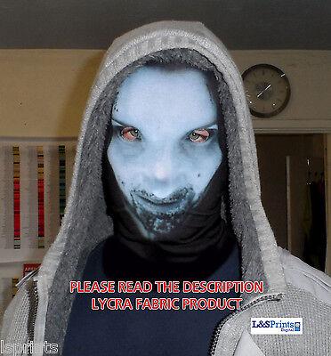 BLUE FEMALE ALIEN DESIGN SCARY HALLOWEEN FACE MASK FANCY DRESS FABRIC LYCRA ](Scary Female Mask)