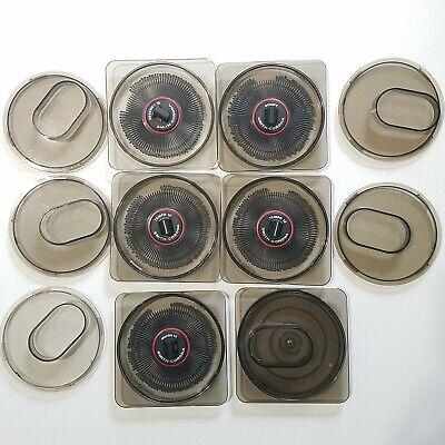 5 Pc Vtg Smith Corona Print Wheels In Hard Cases Regency Script Tempo Micro