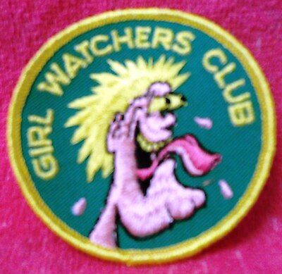 """COLLECTIBLE COMIC ITEMS--""""GIRL WATCHER'S CLUB"""" 3"""" PATCHES-NEW-FREE SHIPPING!"""