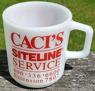 Vintage Galaxy advertising mug: Caci's Siteline Service ONLY ONE ON EBAY!