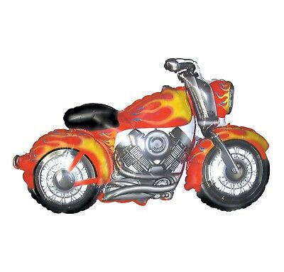 45 Inch Motorcycle Balloon Flames Red Snarley Birthday](Motorcycle Birthday Decorations)