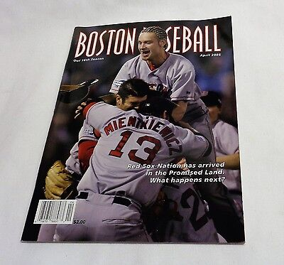 April 2005 Fenway Park Boston Baseball Red Sox Program Scorecard Ring Ceremony