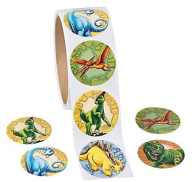 25 dinosaur stickers teacher supply party favor  trex triceratops - Dinosaur Party