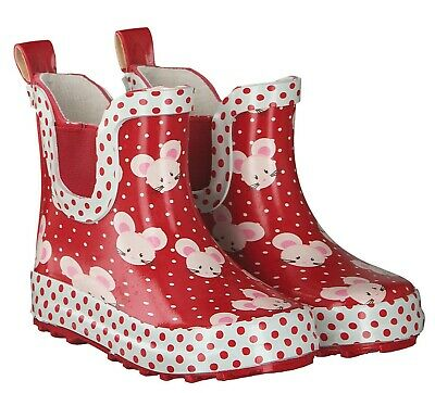 Beck Mädchen Regenstiefel rot Größe 19 - 30 Mäuschen 866 Gummistiefel
