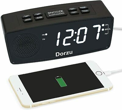 Clock Radio, Digital FM Bedside Alarm Clock Radio with USB Charger Port for Bedr