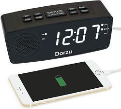Clock Radio, Digital FM Bedside Alarm Clock Radio with USB Charger Port for Bedr