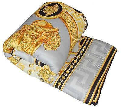 Versace La Coupe De Dieux Baroque Medusa King Size Comforter Grey/Black/Gold