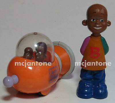 LOOSE LOT 2 Subway 2000 Nick Jr. LITTLE BILL & BRAINSTAR Pullback Car Toys COSBY