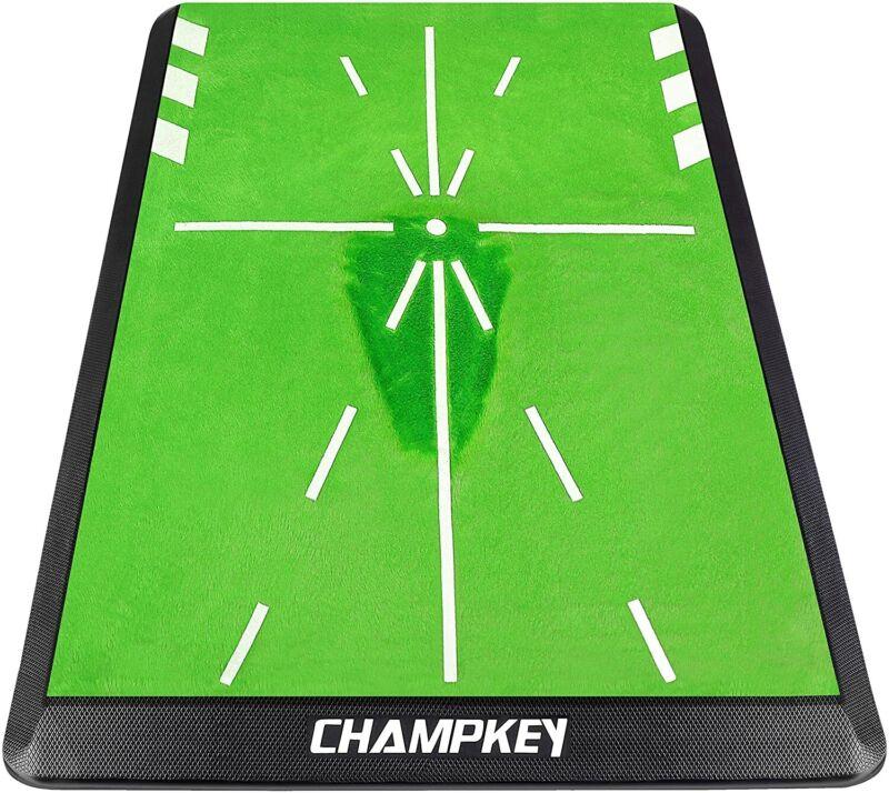 "Champkey 13"" 17"" Tracker-PRO Impact Golf Hitting Mat - Correct Your Swing Path"
