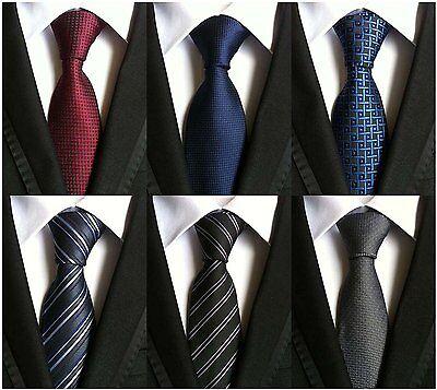 WeiShang Lot 6 PCS Classic Mens 100% Silk Tie Necktie Woven JACQUARD Neck Ties