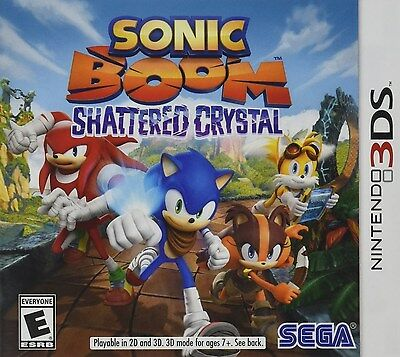 Sonic Boom  Shattered Crystal  Nintendo 3Ds  Fast Platform Action Adventure  New