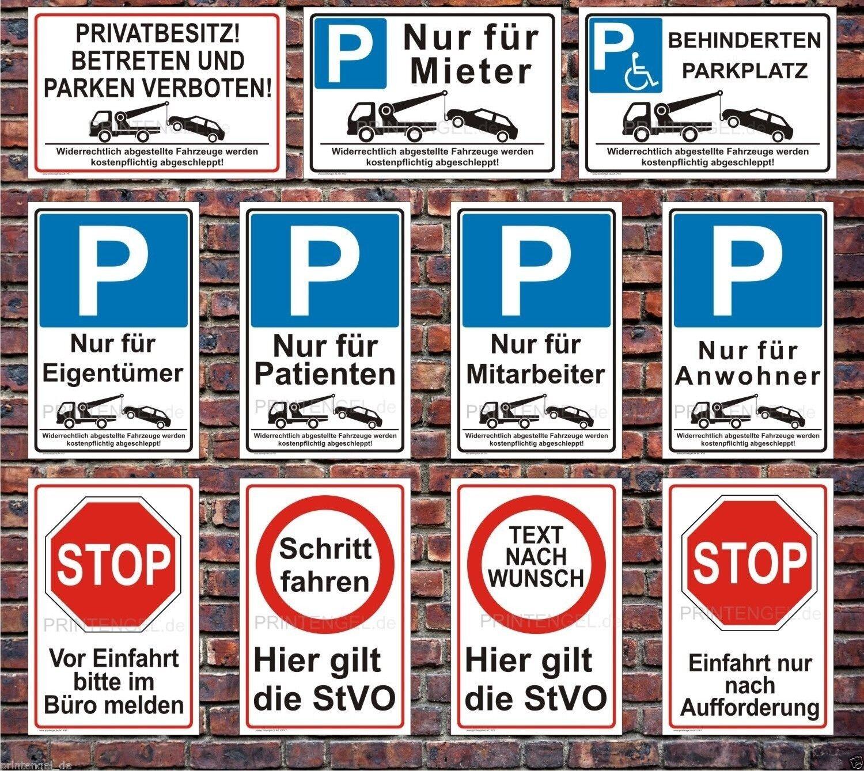 schild parken verboten parkverbotsschild parkplatz warn. Black Bedroom Furniture Sets. Home Design Ideas
